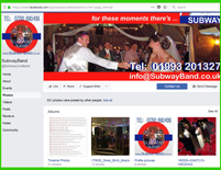 Subway Band, wedding and events band Facebook Business Page